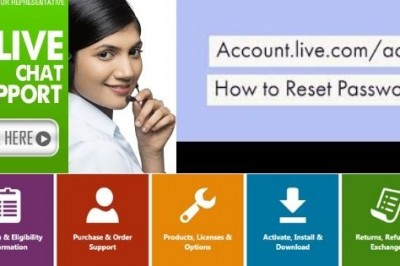 What are the two ways of account live password reset? Call 1-800-544-8083 (Toll Free)