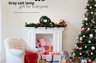 Happy Holideals! Up to 53% Off  Himalayan Glow Grey salt lamp gift for Everyone