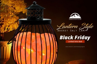 Black Friday Limited Time Deal Himalayan Glow Lantern Style Basket Salt Lamp