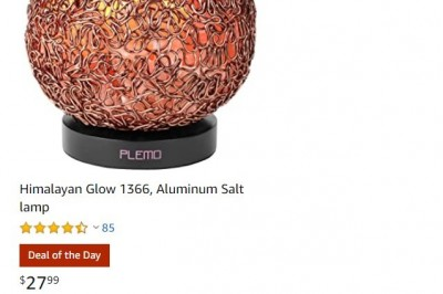 Deal Of the Day On Himalayan Glow Aluminum Salt lamp
