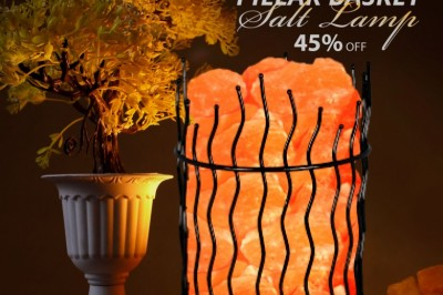 Himalayan Glow Pillar Basket salt lamp Christmas Sale